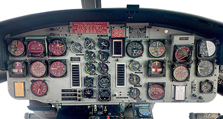 FUJI-BELL 204B-2 cockpit