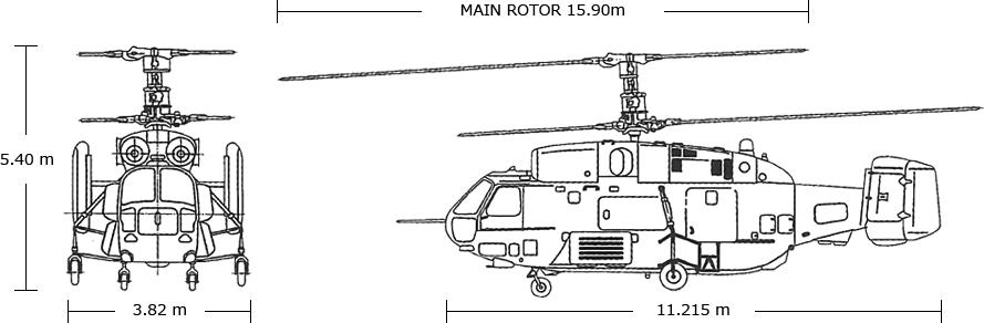 KAMOV Ka-32A11BC Body Size