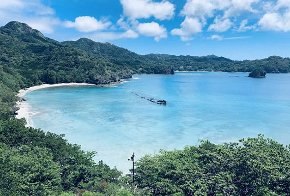 小笠原諸島の海