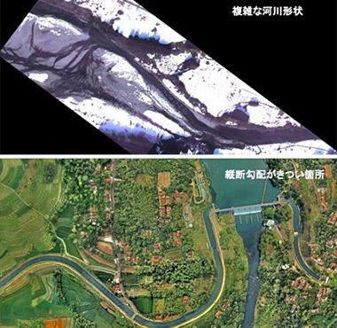 河川計測事例 複雑な河川形状 縦断形状がきつい箇所